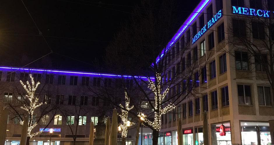 Hautarztpraxis Dr. Herbst & Kollegen – Merckhaus im Winter